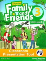 Family and Friends 2nd edition 3 Class Book Classroom Presentation Tool