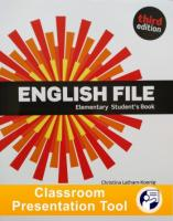 English File 3rd edition Elementary Student's Book Classroom Presentation Tool